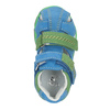 Dětské modré kožené sandály bubblegummers, modrá, 166-9602 - 15
