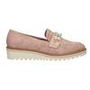 Mokasíny na platformě s perličkami bata, růžová, 511-5610 - 16