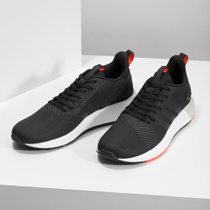 Pánské černé tenisky s oranžovými detaily adidas, černá, 809-6579 - 16