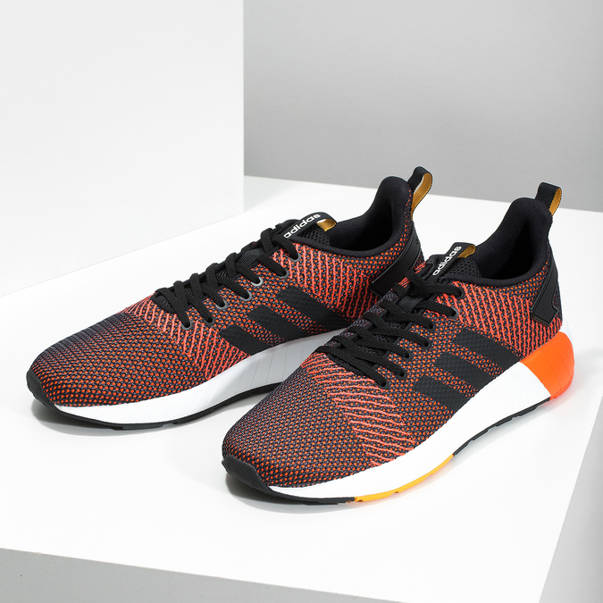 Oranžovo-černé pánské tenisky adidas, oranžová, 809-6479 - 16