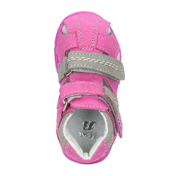 Dětské kožené sandály růžové bubblegummers, růžová, 163-5602 - 15