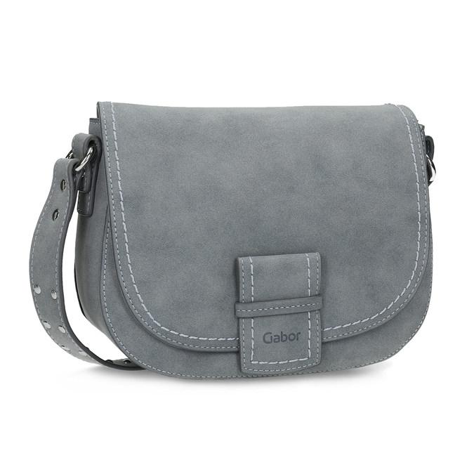 Crossbody kabelka se cvočky na popruhu gabor-bags, modrá, 961-9015 - 13