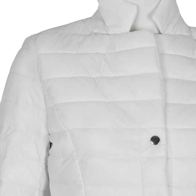 Bílá prošívaná bunda s límečkem bata, bílá, 979-1182 - 16