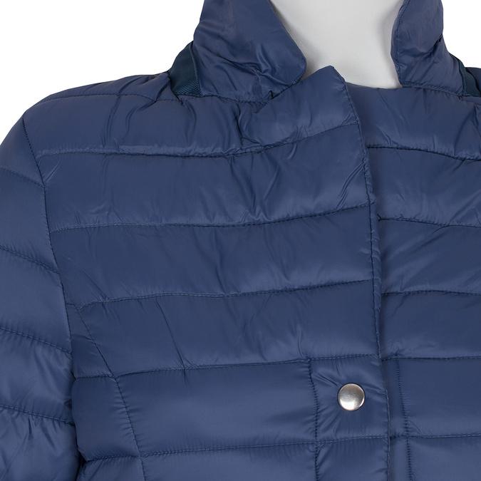 Modrá prošívaná bunda s límečkem bata, modrá, 979-9182 - 16