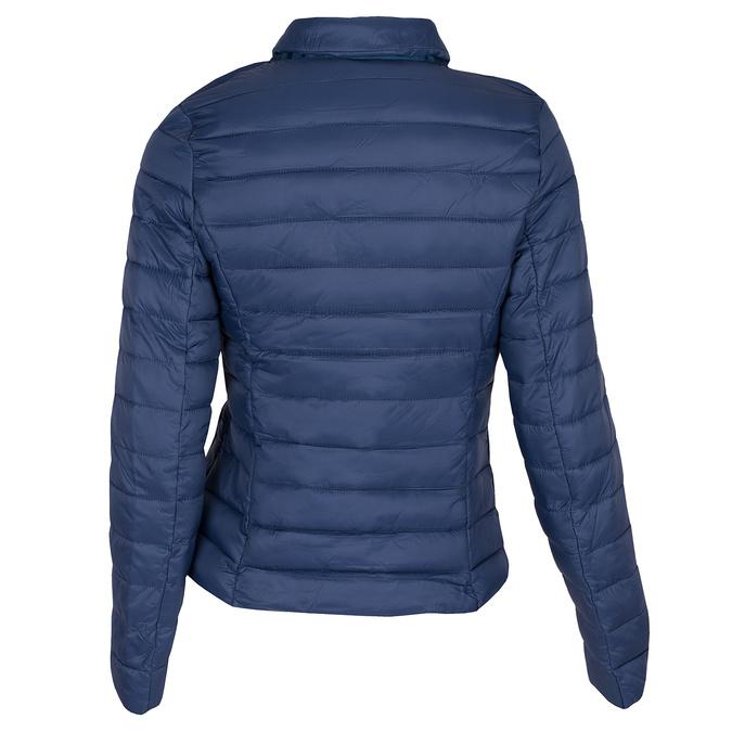 Modrá prošívaná bunda s límečkem bata, modrá, 979-9182 - 26