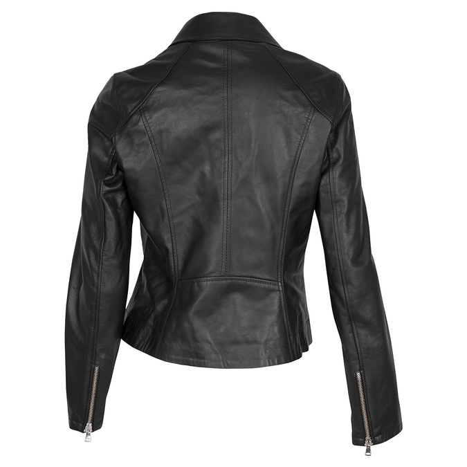 Kožená dámská bunda křivák bata, černá, 974-6123 - 26