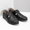 Kožené sandály s prošíváním fluchos, černá, 864-6605 - 26