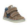 Dětská kotníčková kožená obuv bubblegummers, hnědá, 113-4607 - 13