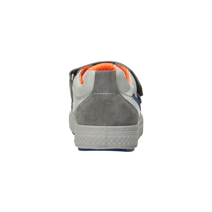 Dětské kožené tenisky na suché zipy mini-b, šedá, 413-2603 - 16