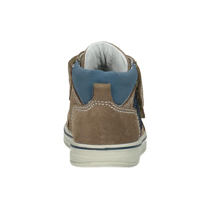 Dětská kotníčková kožená obuv bubblegummers, hnědá, 113-4607 - 16