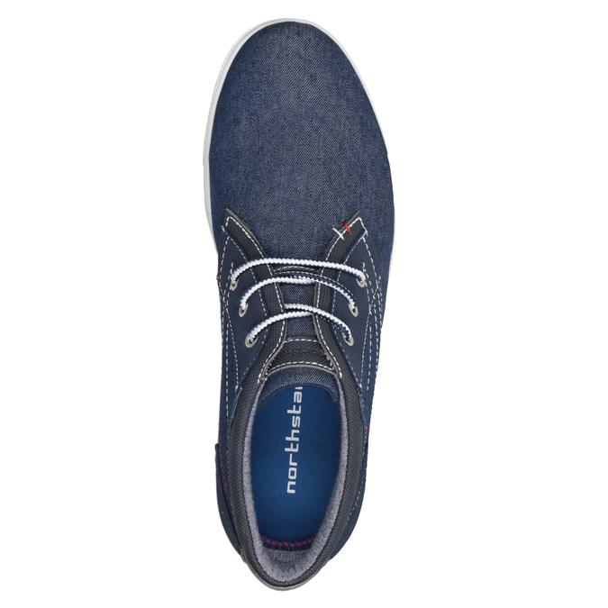 Ležérní tenisky v denimovém designu north-star, modrá, 841-9613 - 17
