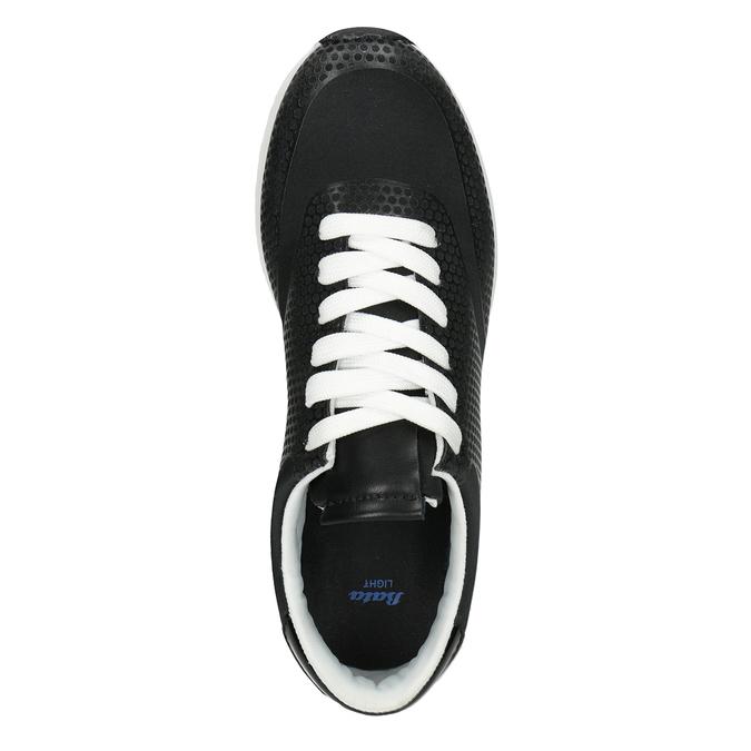 Černé dámské tenisky bata-light, černá, 549-6605 - 15