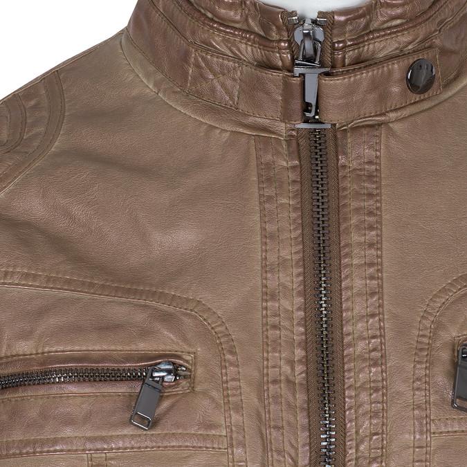 Hnědá pánská bunda z koženky bata, hnědá, 971-3194 - 16
