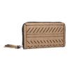 Dámská béžová peněženka s průstřihy bata, hnědá, 941-4157 - 13