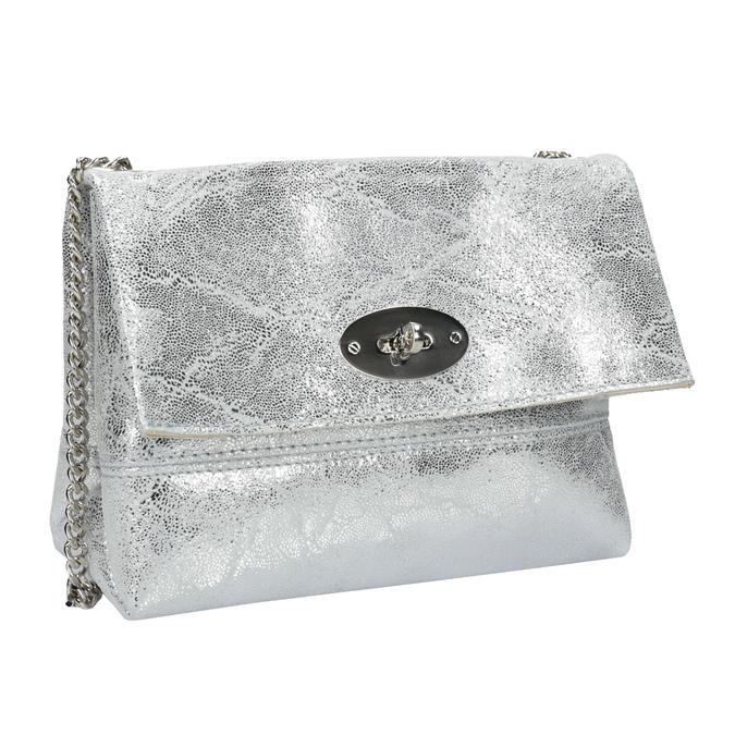 Stříbrná kožená Crossbody kabelka bata, 964-1239 - 13