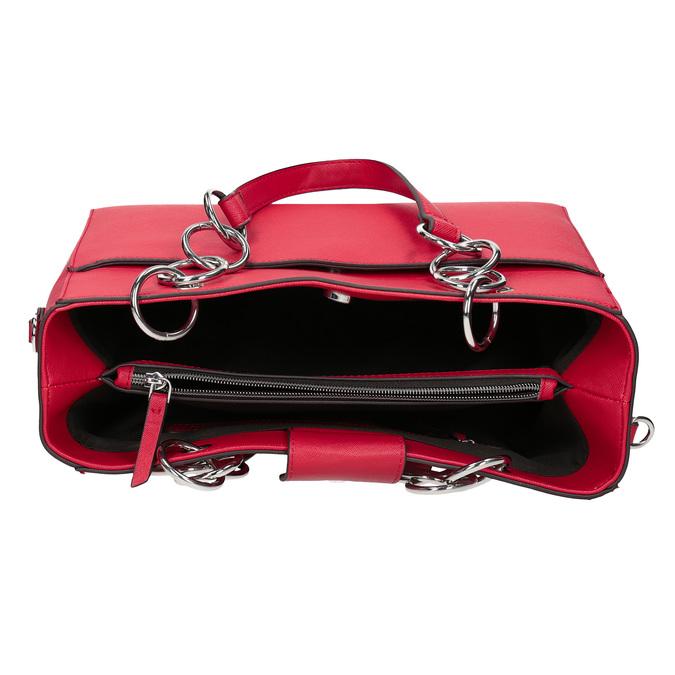 Červená dámská kabelka bata, červená, 961-5343 - 15