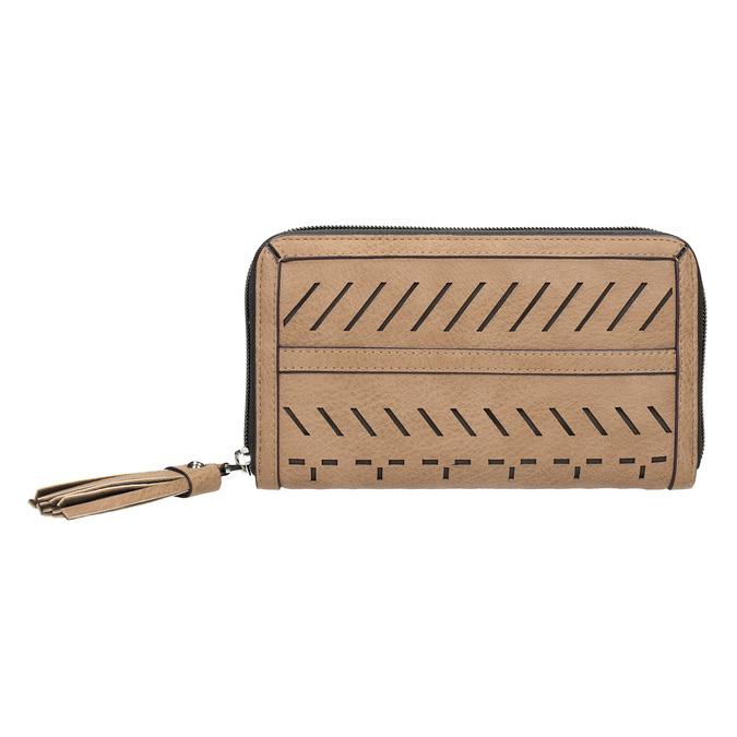 Dámská béžová peněženka s průstřihy bata, hnědá, 941-4157 - 26