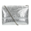 Stříbrná kožená Crossbody kabelka bata, 964-1239 - 16