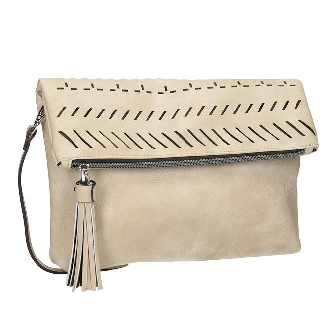 Dámská Crossbody kabelka se střapcem bata, béžová, 961-8829 - 13