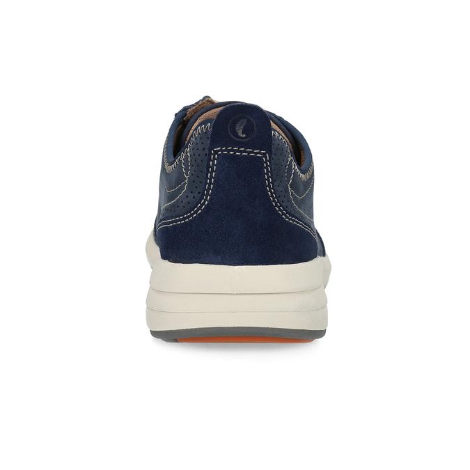 Pánské tenisky z modré broušené kůže clarks, modrá, 826-9027 - 15