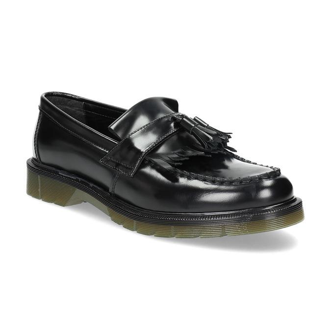 Kožené pánské mokasíny na výrazné podešvi bata, černá, 814-6176 - 13