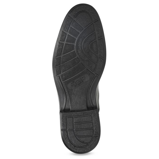 Kožené černé polobotky pánské comfit, černá, 824-6943 - 18
