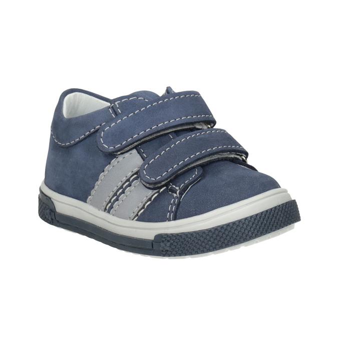 Kožená dětská obuv na suché zipy bubblegummers, 116-9607 - 13