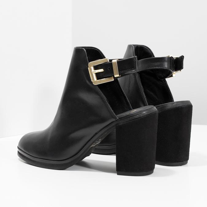 Kožená obuv na masivním podpatku royal-republiq, černá, 524-6020 - 16