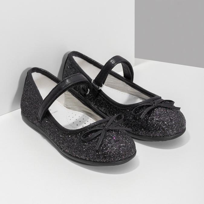 Černé dívčí baleríny se třpytkami mini-b, černá, 229-6103 - 26