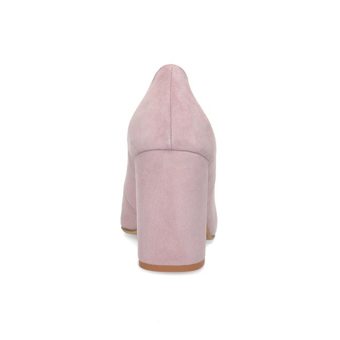 Kožené lodičky na asymetrickém podpatku bata, růžová, 723-5608 - 15