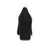 Černé lodičky do špičky z broušené kůže bata, černá, 723-6608 - 15