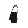 Kožené lodičky s volnou patou bata, černá, 723-6606 - 15