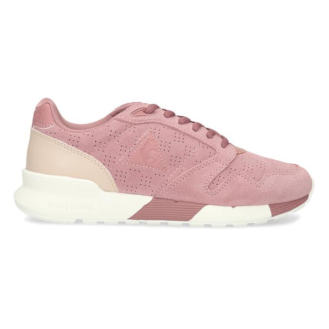Růžové dámské tenisky z broušené kůže le-coq-sportif, růžová, 503-5309 - 19