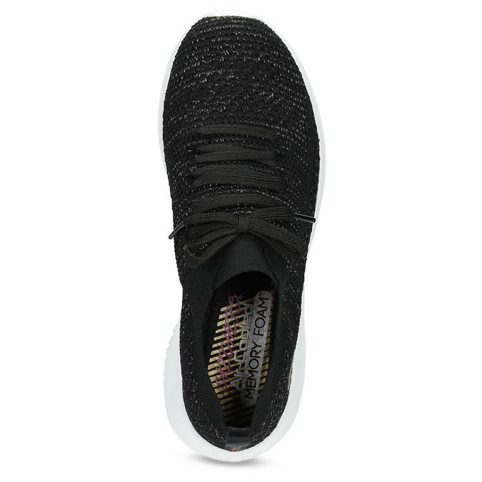 Černé úpletové tenisky se zlatými detaily skechers, černá, 509-6992 - 17