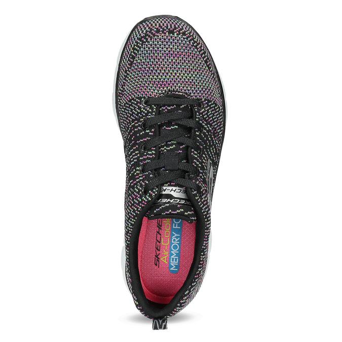 Tenisky s barevným pleteným vzorem skechers, černá, 509-6530 - 17