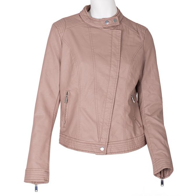Růžová dámská bunda z koženky bata, růžová, 971-8211 - 13