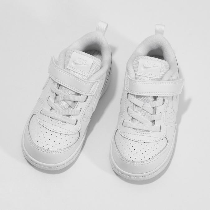 Bílé dětské tenisky se suchým zipem nike, bílá, 101-1154 - 16