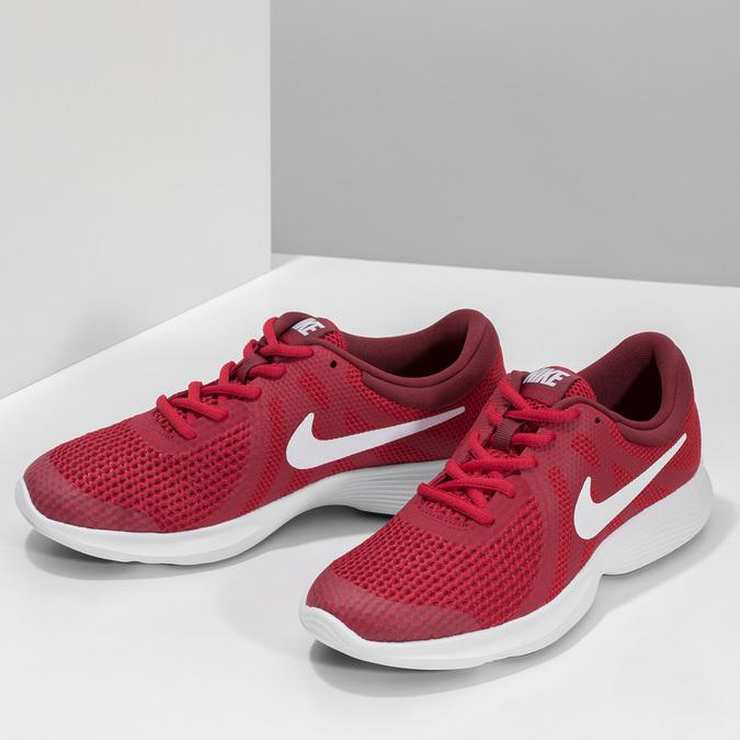 Červené dětské tenisky s bílou podešví nike, červená, 409-5502 - 16