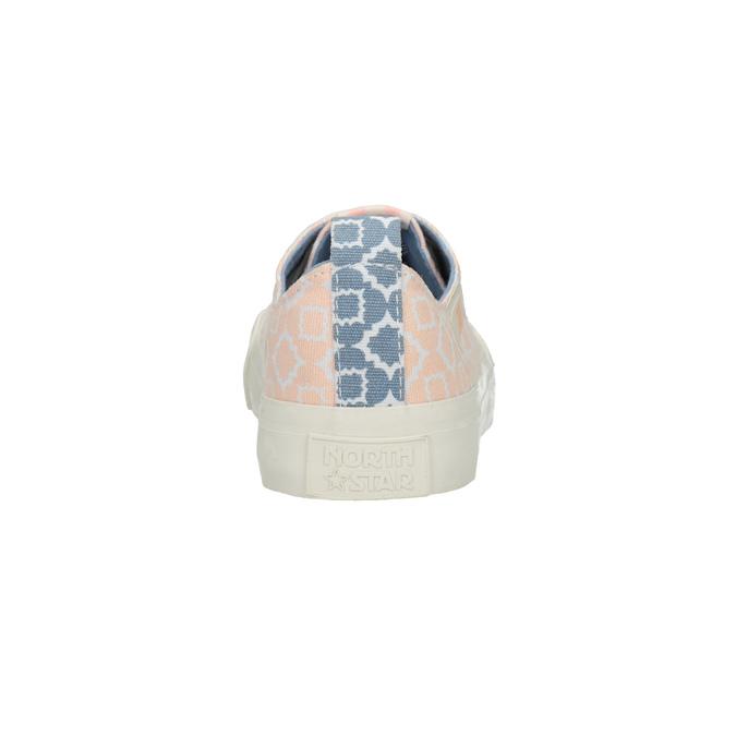 Textilní tenisky se vzorem north-star, růžová, 549-5608 - 16