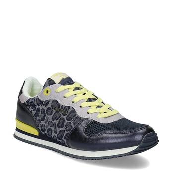 Dámské tenisky se žlutými detaily a vzorem pepe-jeans, šedá, 549-9024 - 13