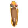 Kožené baleríny s barevnou mašlí gabor, žlutá, 523-8018 - 15