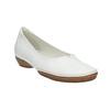 Bílé kožené baleríny s prošitím gabor, bílá, 526-1031 - 13