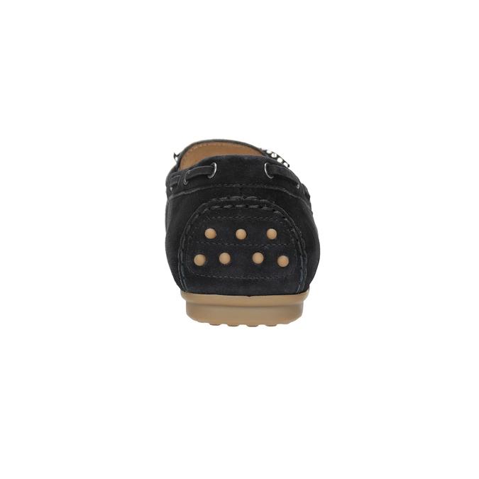 Kožené dámské mokasíny gabor, černá, 613-9014 - 16