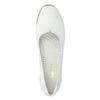 Bílé kožené baleríny s prošitím gabor, bílá, 526-1031 - 15