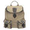 Textilní batoh s kapsami bata, béžová, 969-8685 - 26