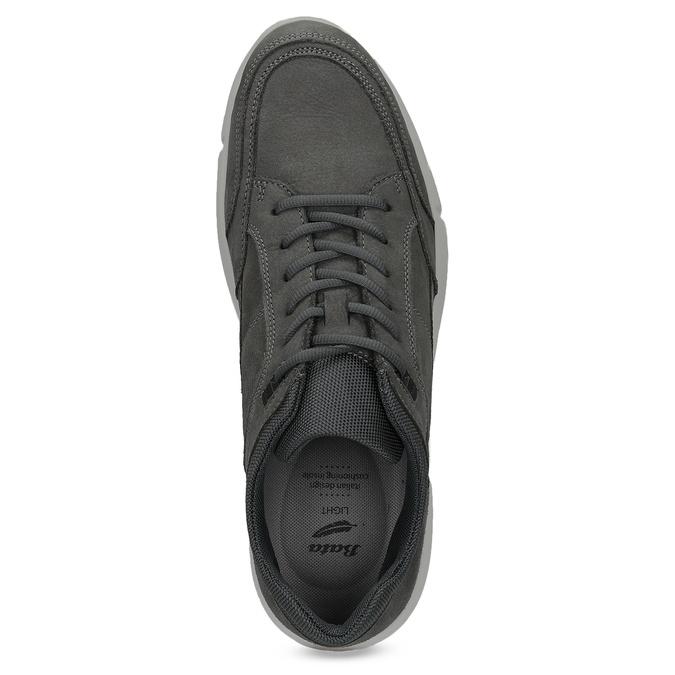 Kožené pánské tenisky černé bata-light, šedá, 846-2712 - 17