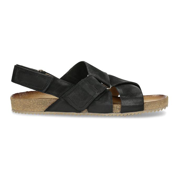 Pánské kožené sandály bata, černá, 866-6646 - 19