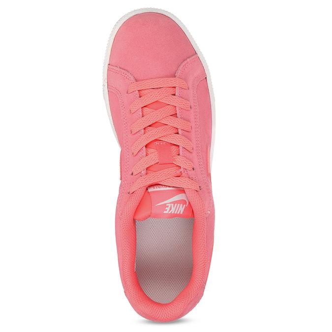 Kožené růžové dámské tenisky nike, růžová, 503-5862 - 17