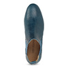 Dámské kožené modré Chelsea Boots ten-points, modrá, 516-9044 - 17