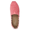 Růžové dámské slip-on toms, růžová, 519-5017 - 17